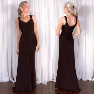 Cache Elegant Fitted Stretch Formal Evening Gown